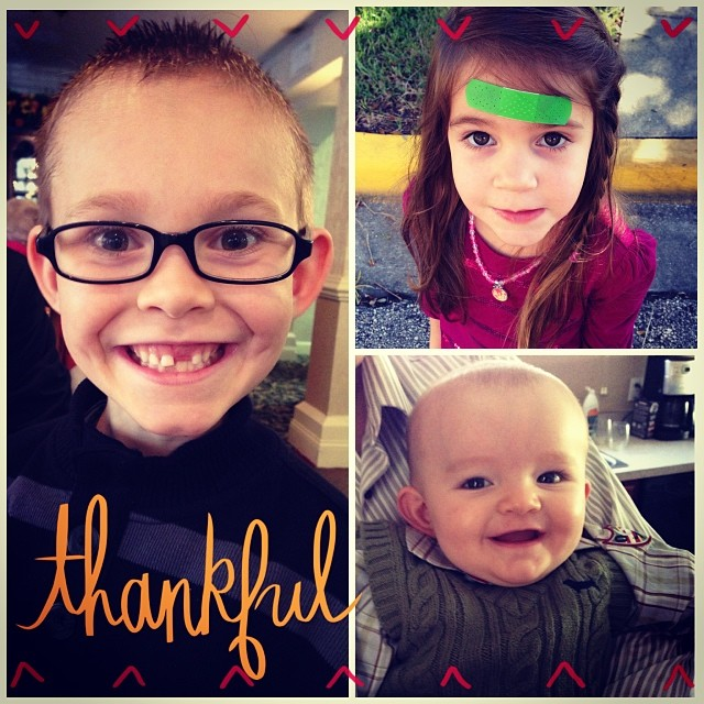 So very thankful for my three favorite turkeys. Happy Thanksgiving!!!