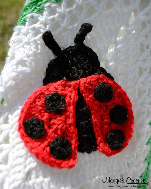 Ladybug Afghan and Pillow Crochet Pattern PA273 Flickr ...