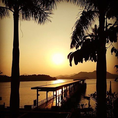 sunrise hongkong pier december saikung 2013