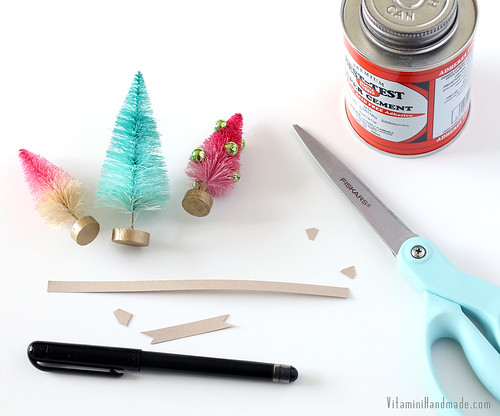 Bottle Brush Tree Gift Toppers
