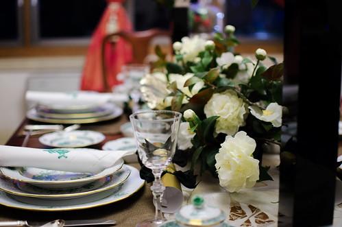 華のある食卓