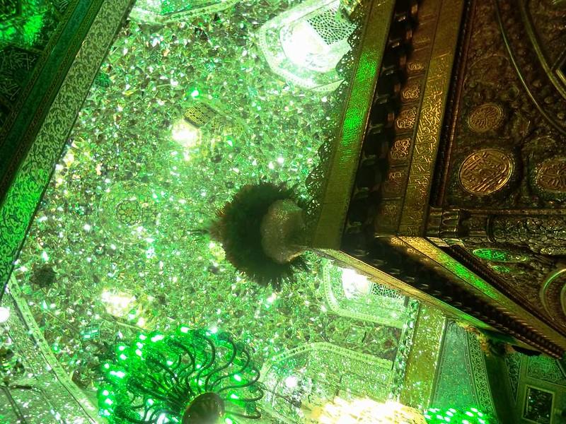 164 techo de la sala del feretro, Interior de la mezquita de Iman Reza en Masshad. Foto de Majid Kharinkani (24)