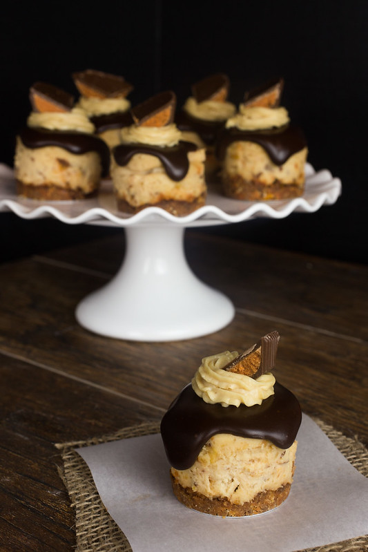Butterfinger Peanut Butter Cup Cheesecakes #ThatNewCrush #Shop