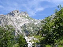 Foto per 12. Il Passo della Focolaccia visto dalla Via Vandelli.