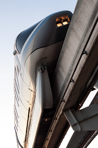 Monorail Monday - Silver and Gold Overhead by Jeff.Hamm.Photography