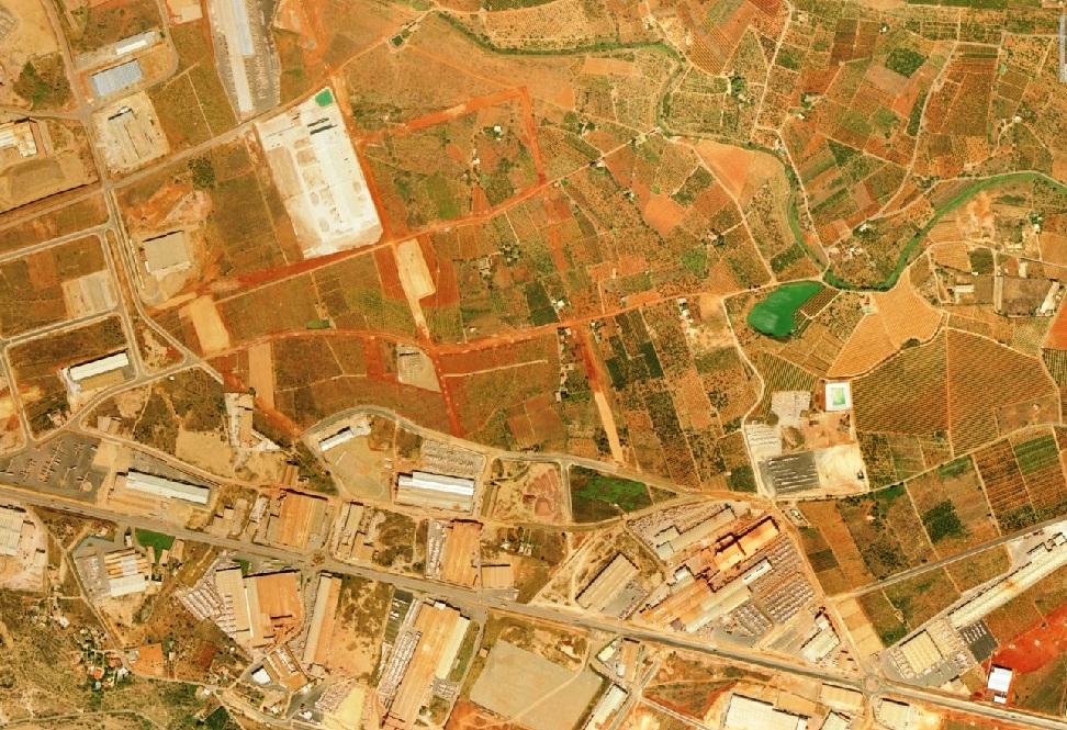 antes, urbanismo, foto aérea, desastre, urbanístico, planeamiento, urbano, construcción, Onda, azulejo, triángulo del azulejo