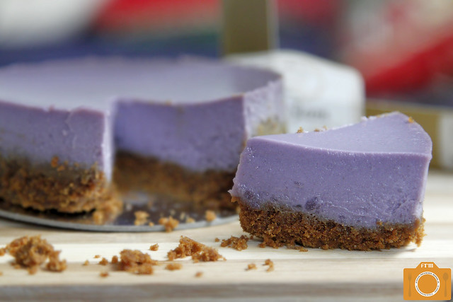 Indulgence by Irene Ube Cheesecake slice