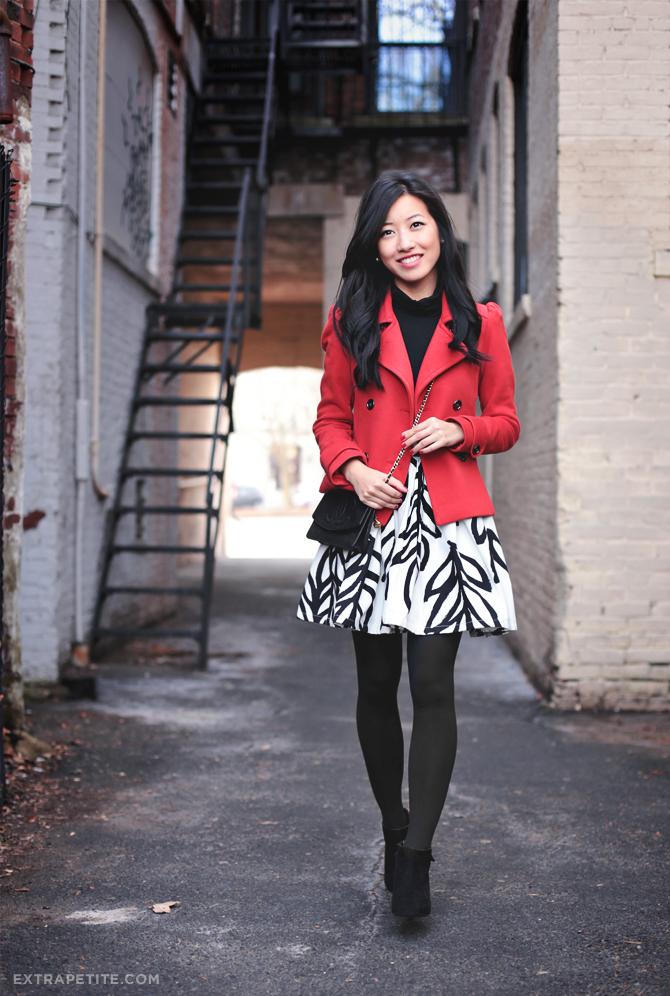 red jacket leaf skirt1