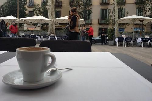 Coffee on La Rambla