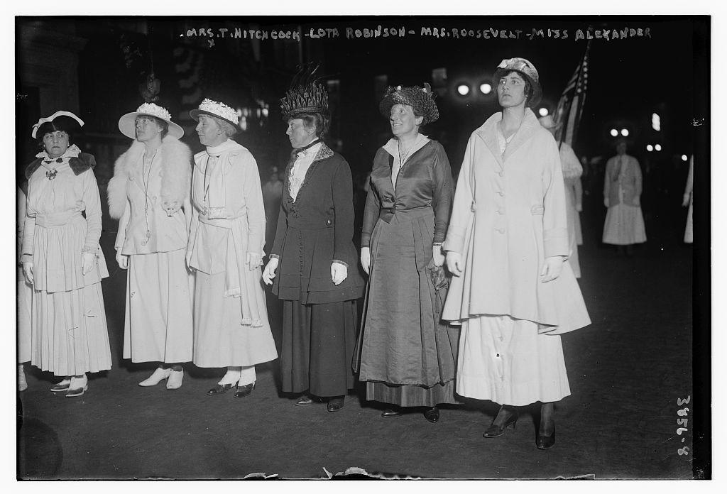 Mrs. T. Hitchcock, Lota Robinson, Mrs. Roosevelt & Miss Alexander (LOC)