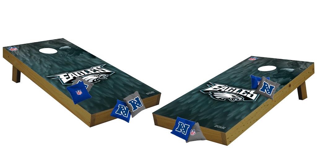 Custom Philadelphia Eagles Cornhole Boards