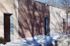 Stucco, shadow, door frame
