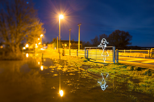 (All In Camera Tilt Shift Light Painting), Wareham by flatworldsedge