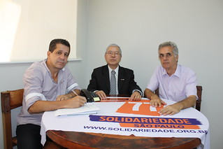Rubens Nakano, do Sindifisco, debate eleições 2014 com David Martins, presidente do Solidariedade-SP
