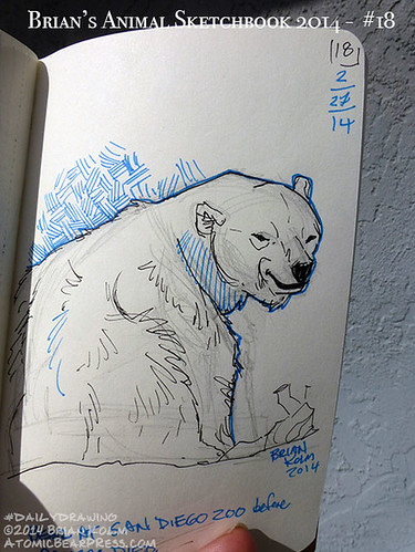 02-27-2014 #dailydrawing #animals polar bear
