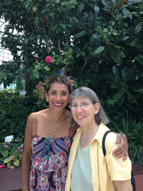 With my new friend Anne at the Garden by the Bay, Singapore