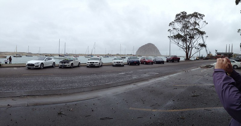 BMW Active E Wake at Morro Bay, CA