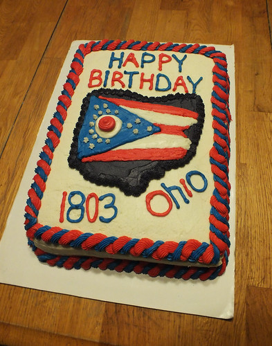 Ohio Birthday Cake