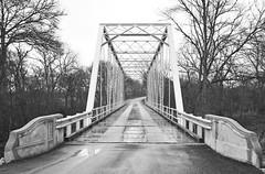 Truss Bridge, Providence Road over Little Brazos River, Hearne, Texas 1403151315bw