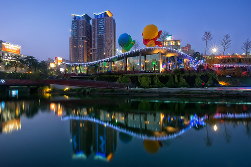 longexposure night reflections nightscape taiwan olympus taichung bluehour 夜景 magichour 台中 em1 秋紅谷 qiuhongvalleylandscapepark 1240mmf28
