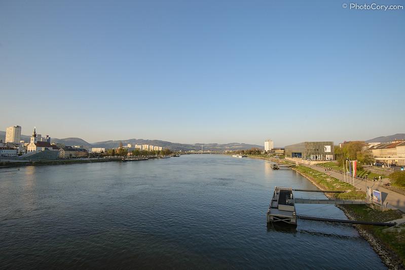 Danube in Linz, Austria