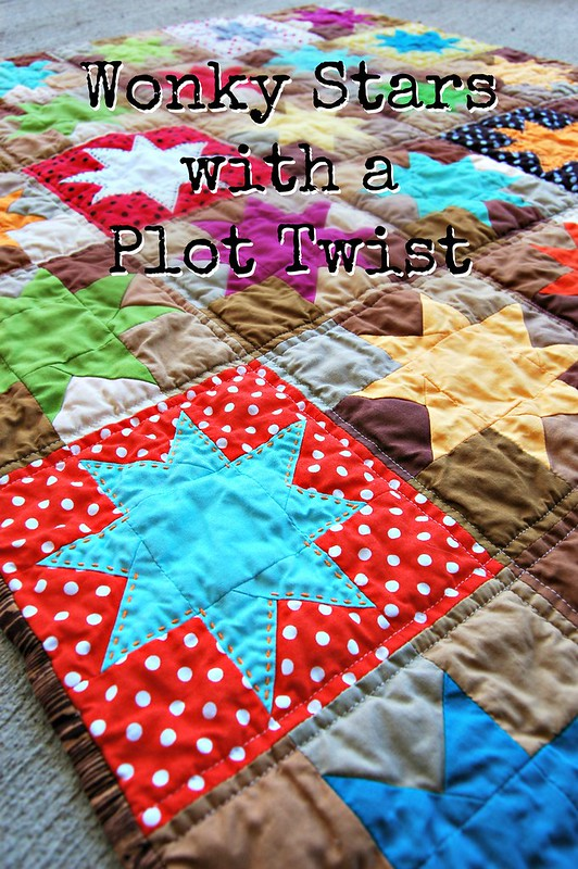 Wonky Stars Quilt Title Pic
