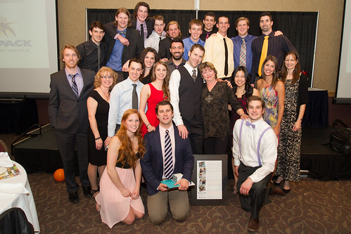 athletes and staff at 2013-14 Athletic Awards (Snucins Apr 3, 2014)