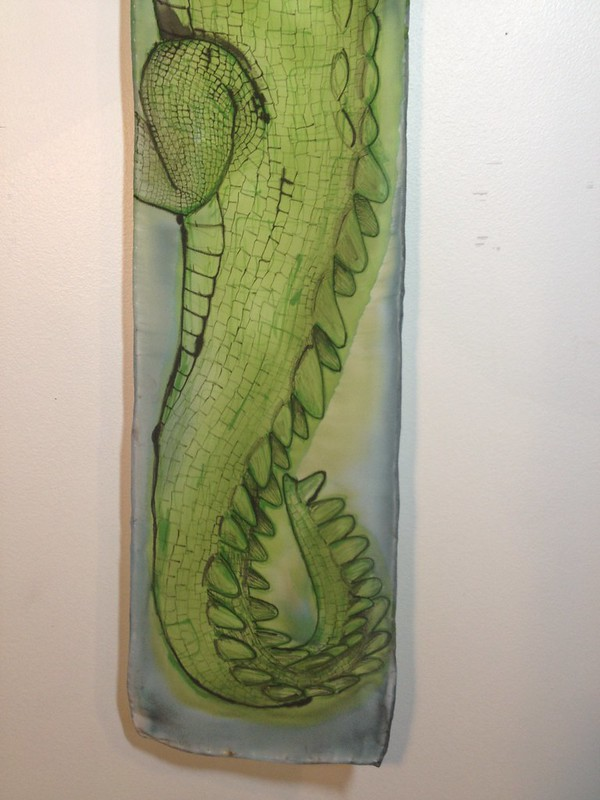 Gharial scarf - tail end
