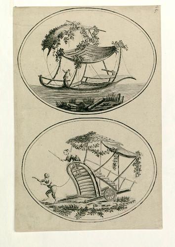 007-Barcas y carretillas chinas-Oeuvre gravé de Jean Pillement..1767-Vol 2- INHA