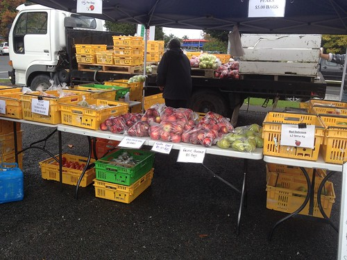 Gisborne Farmers Market Teesdale Orchard stall