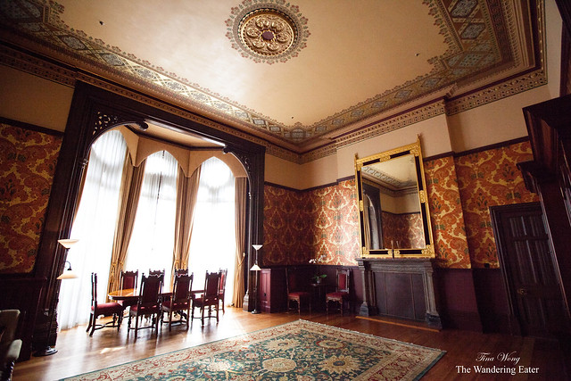 Inside the living area of Sir George Gilbert Scott Suite