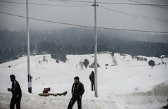 Snowfall at Gulmarg, J&K