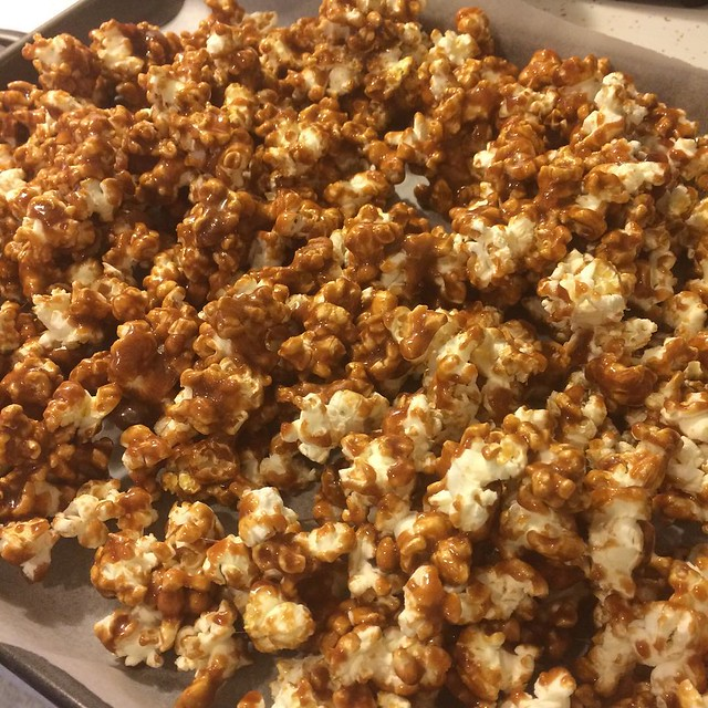 Into the Oven #caramelcorn #food #snacks #cooking