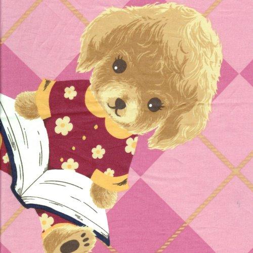 粉色才藝紅貴賓 精梳棉床品床單布料 CA490240