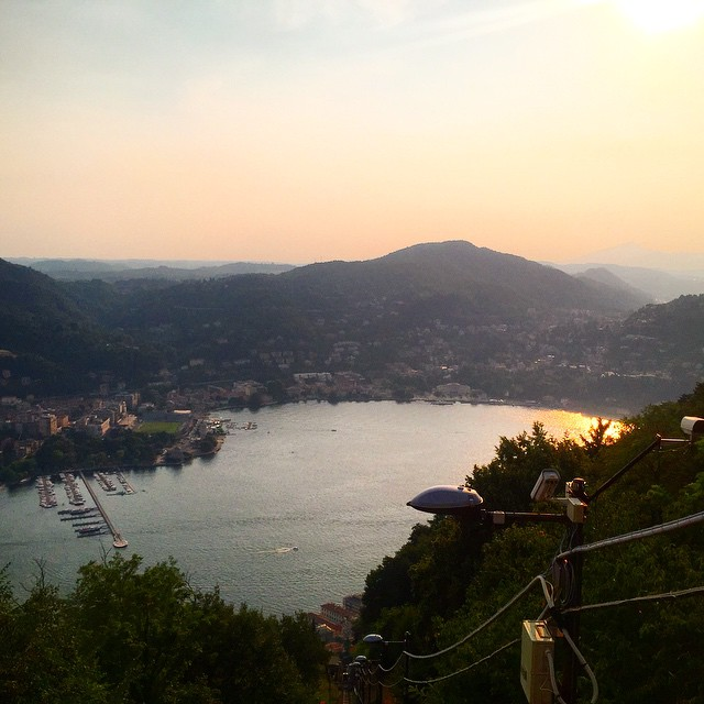 Sunset over #LakeComo! Beautiful! #Italy #remoteyear #travel
