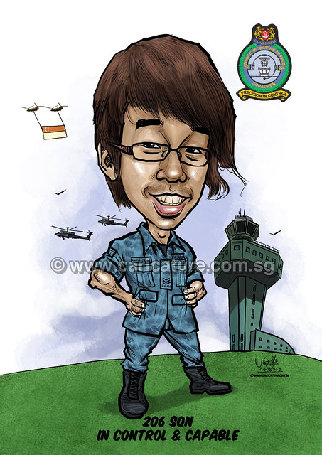 digital caricature for Singapore Air Force 09072015 -1 (watermarked)