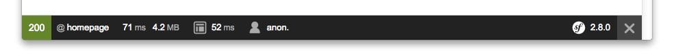 Symfony 2.8 Web debug toolbar