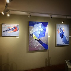 """There's still a couple weeks left to see the """"Time Frozen"""" show at ViVO Contemporary on Canyon Road #contemporaryart #santafe #canyonroad"""