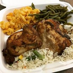 rotisserie chicken platter