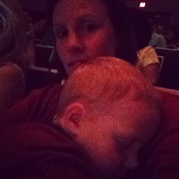@juliannehandy 's band concert. Owen fell asleep. He'll either be up all night or stay asleep for the night. Place your bets now!