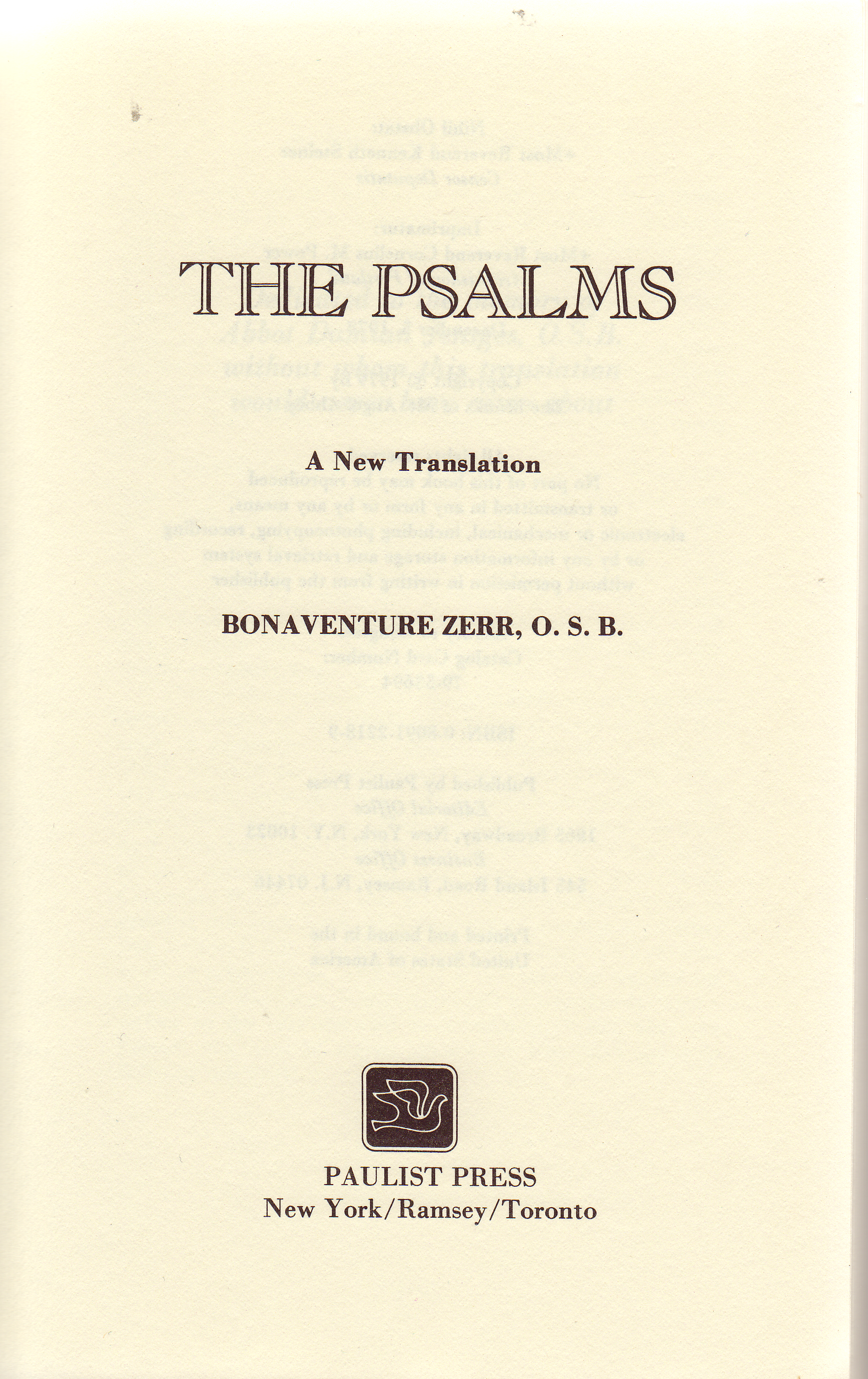 Bonaventure Zerr, O S B  - Internet Bible Catalog