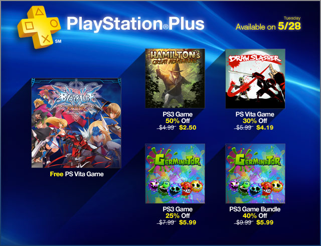 PlayStation Plus Update 28/ 5 /56