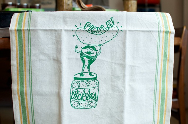 Fern & Fisk pickle towel