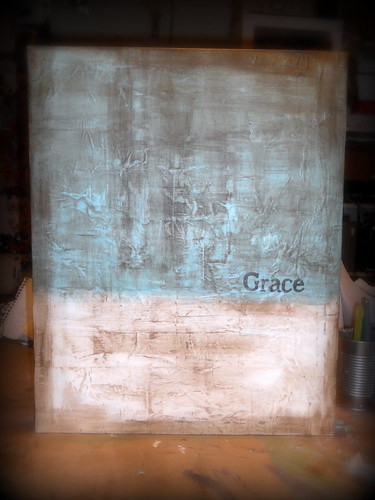 Grace canvas by Lynne Larkin