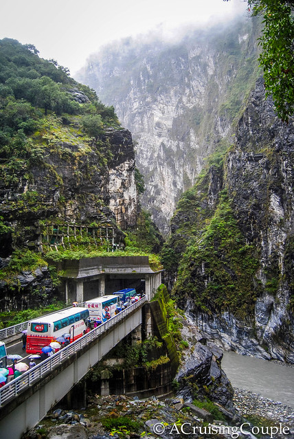 Taroko Gorge Traffic Jam