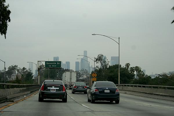 first glimpse of LA