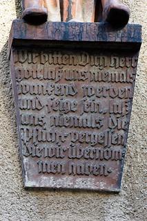 Zócalo con el Discurso de Königsberg