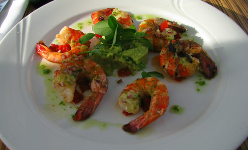 Grilled Tiger Prawns at 'Seafood', Arhus Marina