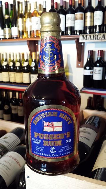 Pusser's Blue Label British Navy Rum 54.5%