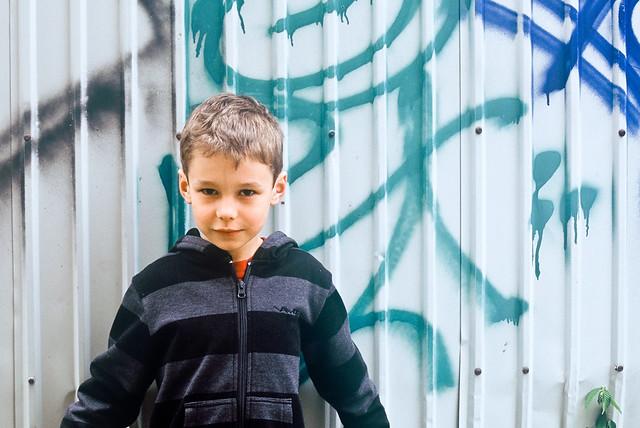 Axel et le graffiti